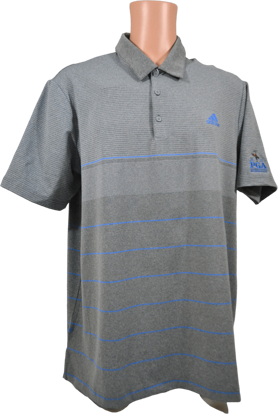 Picture of ADIDAS ULTIMATE365 HEATHERED STRIPE POLO SHIRT