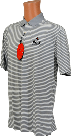Picture of GREG NORMAN PERFORMANCE STRETCH ML75 BAR STRIPE POLO