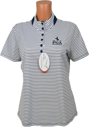 Picture of GREG NORMAN ML75 2BELOW HEATHERED STRIPE MOCK