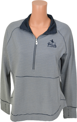 Picture of AHEAD SUMMERHILL 1/2 ZIP DOT STP PULLOVER