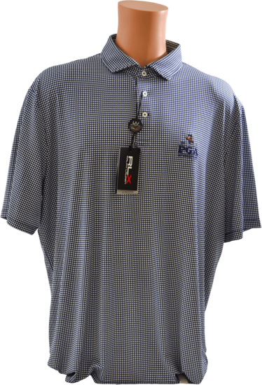 Picture of RALPH LAUREN K191JG17 PRINTED GINGHAM LTWT AIRFLOW POLO