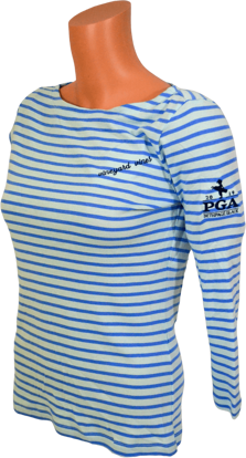 Picture of VINEYARD VINES WOMENS LS BOATNECK STRIPED SIMPLE TEE