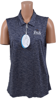 Picture of GREG NORMAN SHIMMER HEATHERED STRETCH ZIP POLO