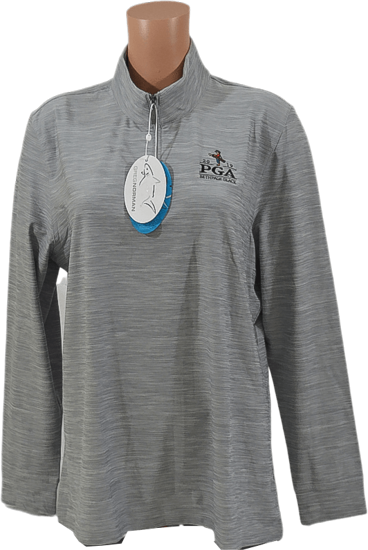 Picture of GREG NORMAN HEATHERED COMFORT STRETCH 1/4-ZIP MOCK