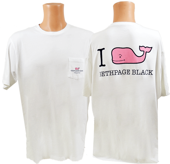 Picture of VINEYARD VINES I WHALE BETHPAGE BLACK TEE