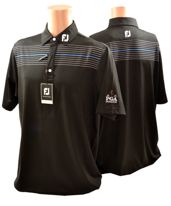 Picture of FOOTJOY ATHLETIC FIT LISLE CHEST PINSTRIPE SELF COLLAR