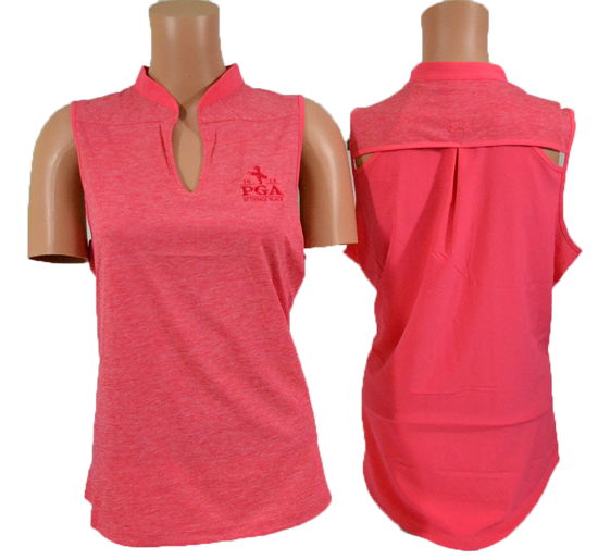 Picture of UA TOUR TIPS SLEEVELESS HEATHER POLO