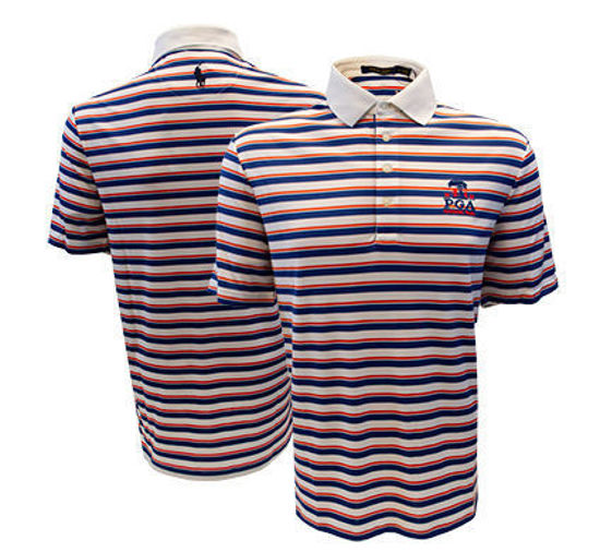 Picture of Men's Volunteer Ralph Lauren Airflow Stripe Knit Golf Shirt