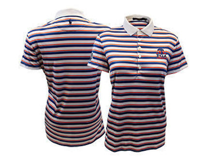 Picture of Women's Volunteer Ralph Lauren Airflow Stripe Knit Golf Shirt