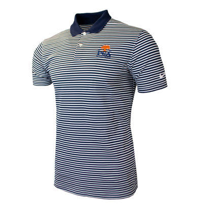 Picture of NIKE VICTORY STRIPE POLO OLC (BLACK/WHITE)