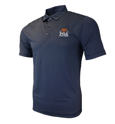 Picture of CUTTER&BUCK FORGE PENCIL STRIPE POLO (NAVY)
