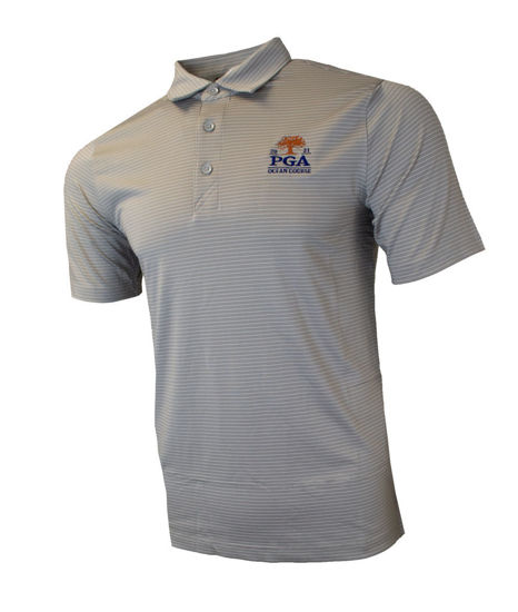 Picture of CUTTER&BUCK FORGE PENCIL STRIPE POLO (GREY)
