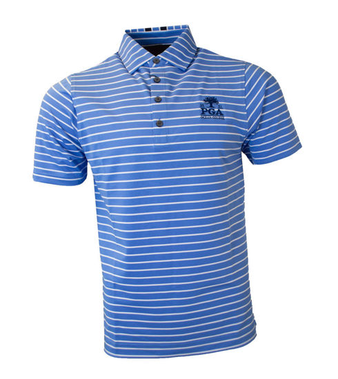 Picture of FOOTJOY PIQUE MIXED STRIPES POLO (BLUE)