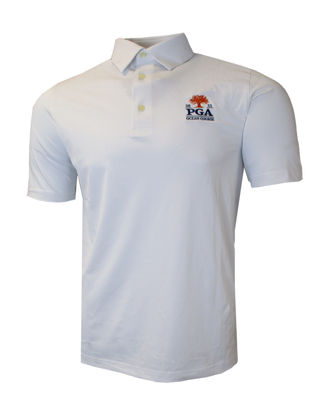 Picture of GREG NORMAN FREEDOM MICRO PIQUE POLO (WHITE)