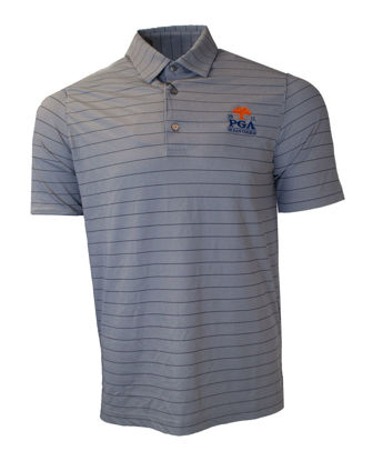 Picture of GREG NORMAN FREEDOM MICRO STRIPE POLO (CHARCOAL)
