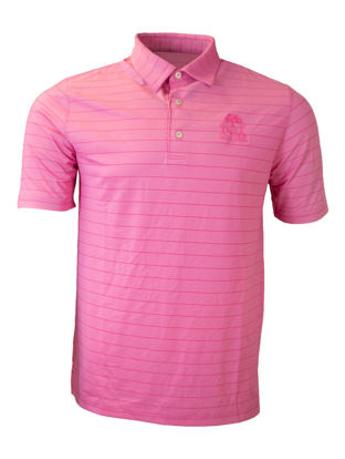 Picture of GREG NORMAN FREEDOM MICRO STRIPE POLO (PINK)