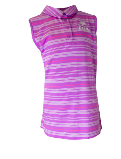 Picture of UNDER ARMOUR GIRLS ZINGER FLIER STRIPE PL POLO